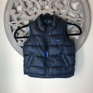 Old navy boys navy blue puffer vest 18-24mos